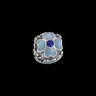 Silver enamal flower -1
