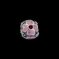 Silver enamal flower -2