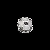 Silver enamal flower -3