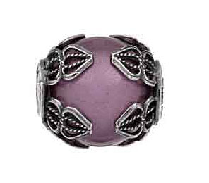 Tedora purple bead