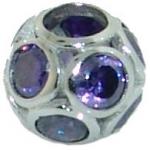 Biagi pave sphere purple