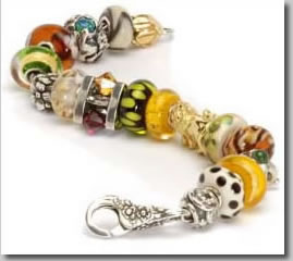 Trollbeads with flower lock