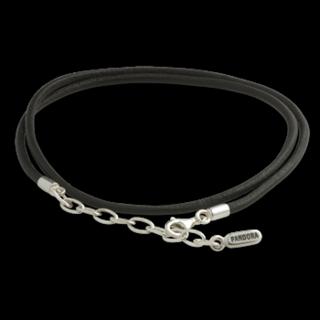 Pandora necklace leather black
