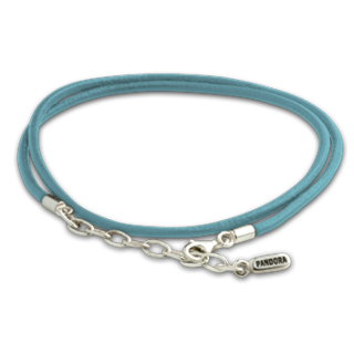 Pandora necklace leather turquoise