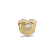 Pandora gold heart with diamond bead