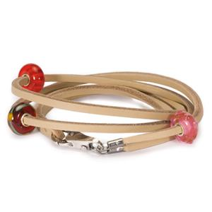 Trollbeads Tan Beige Leather Bracelet